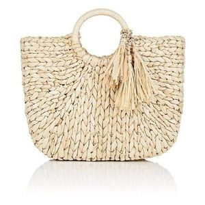NWOT. Barneys New York Straw Tote with Tassels.